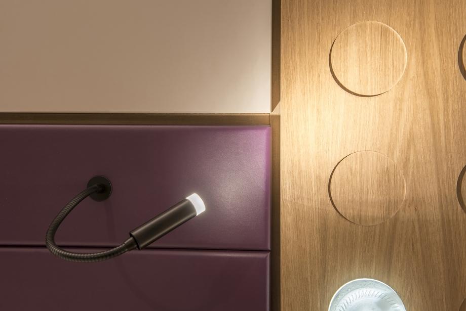 I colori delle illuminazioni nelle camere del BW Plus Soave Hotel