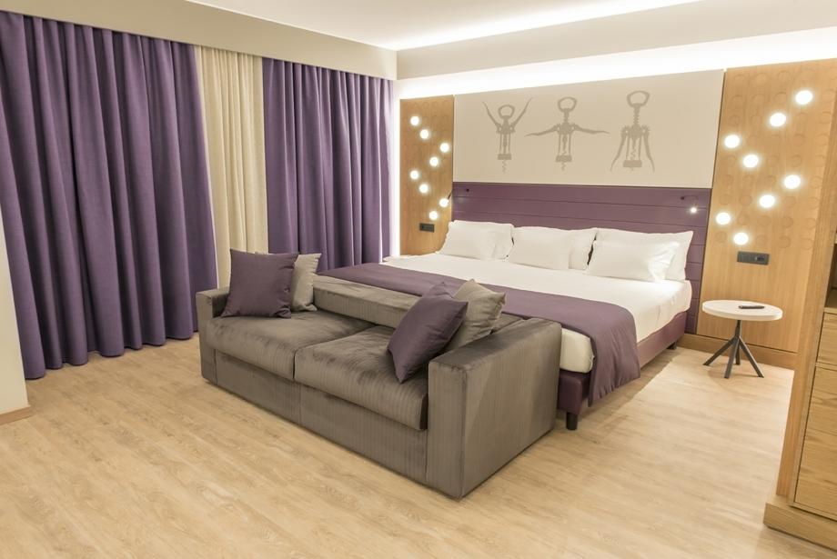 Lo stile e l'eleganza delle camere di Soave Hotel