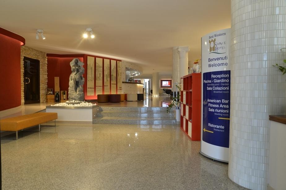 The entrance of our hotel in San Bonifacio