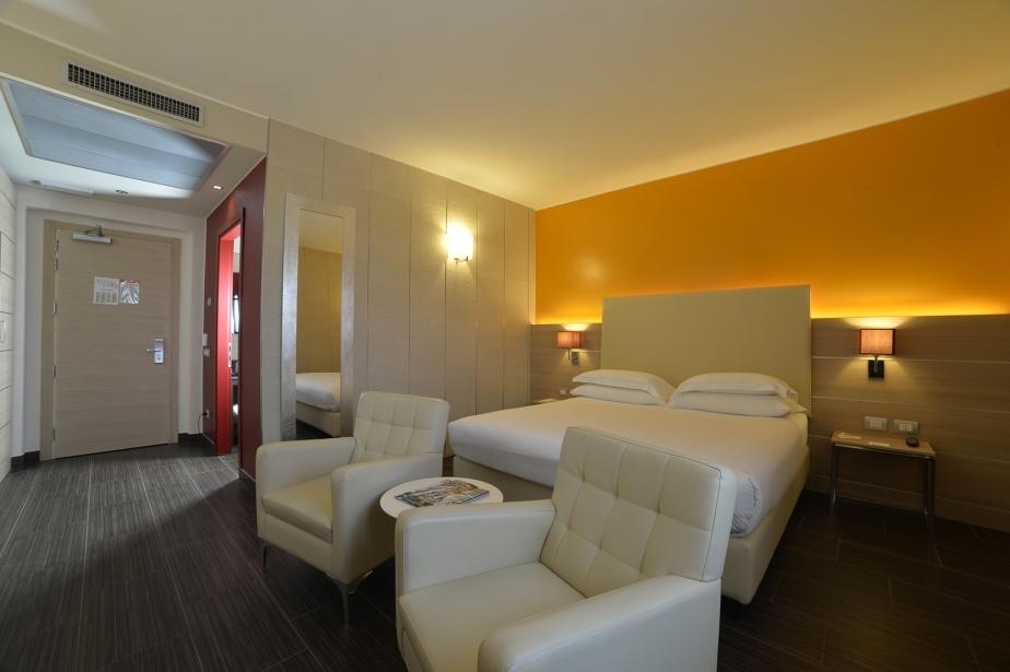 Spazio e design nelle camere del BW Plus Soave Hotel