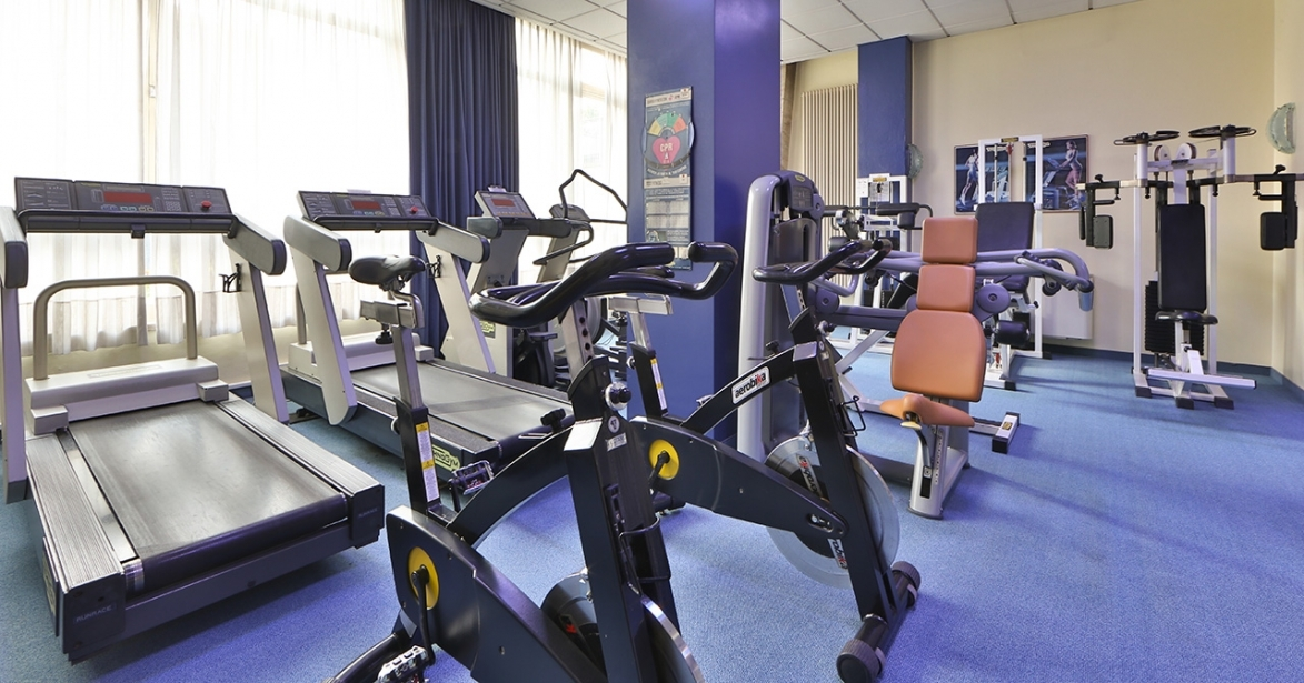 Stay fit with the fitness area of Soave Hotel